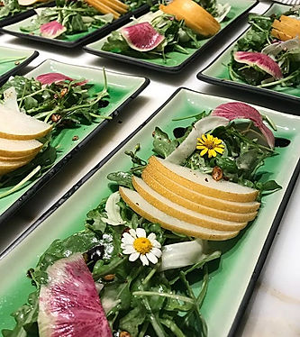 These lovely plates were the perfect bac