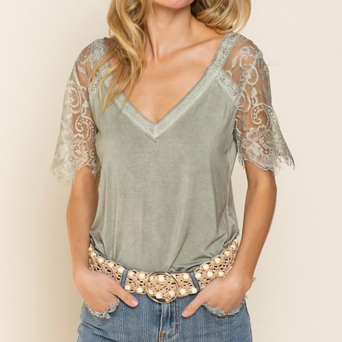 CARINA SIDE LACE TOP