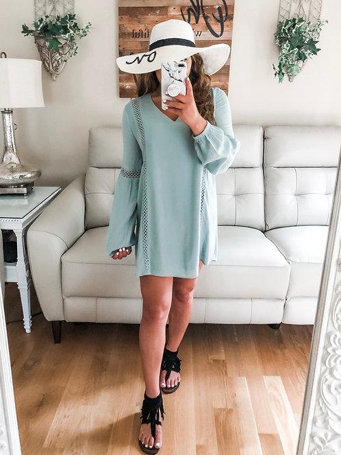 ARIELLA CROCHET TUNIC DRESS
