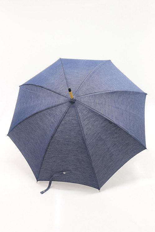 デニム晴雨兼用日傘(ブルー)