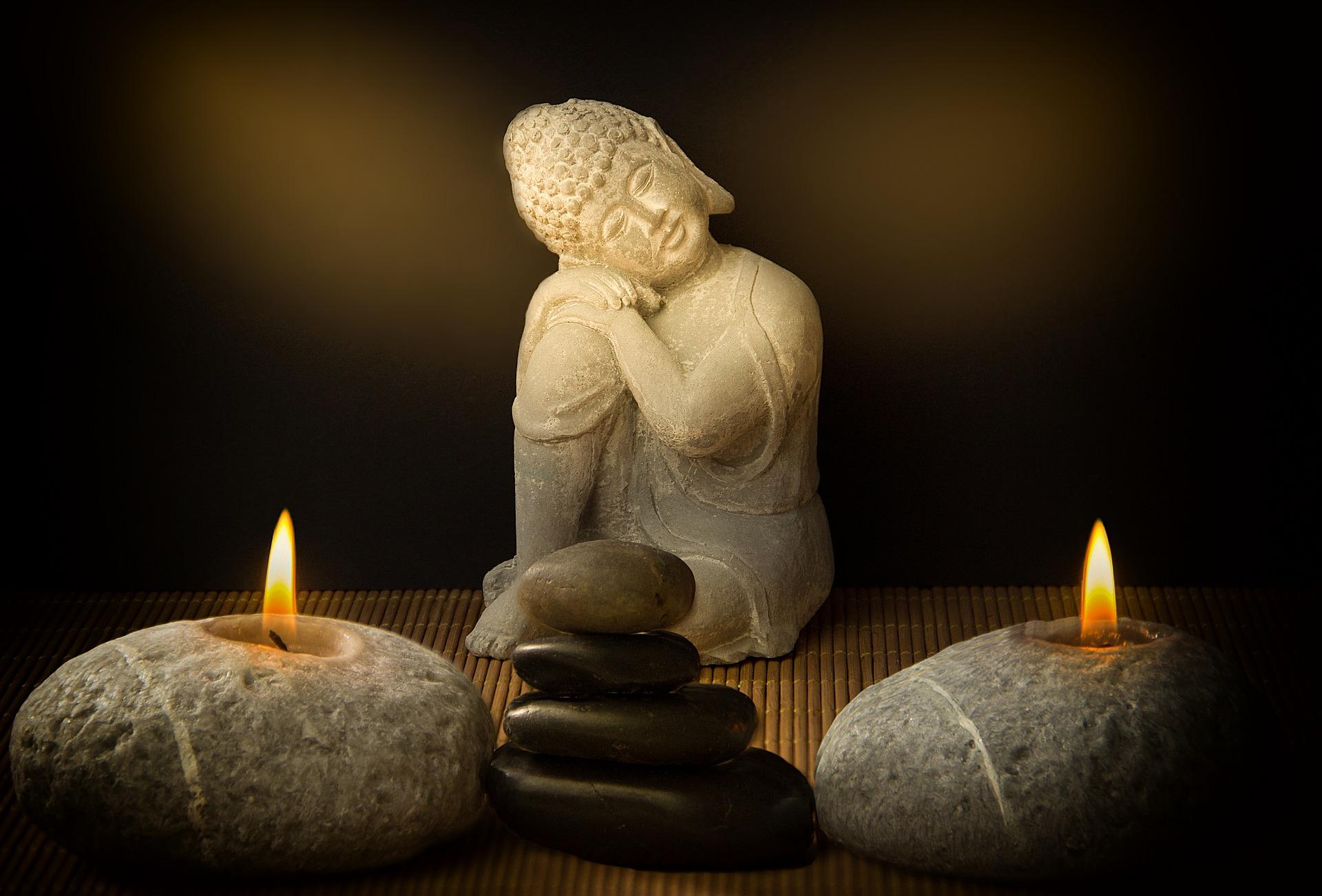 buddha et bougie