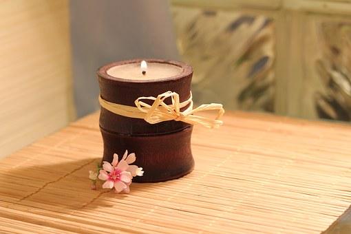 candle & bambou