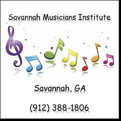 SMI Logo rainbow treble and music notes.
