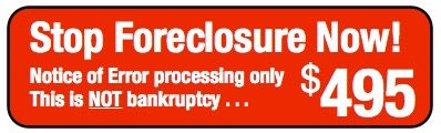 Stop Foreclosure $495 plan