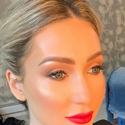 All about the red lip and Glowy Skin