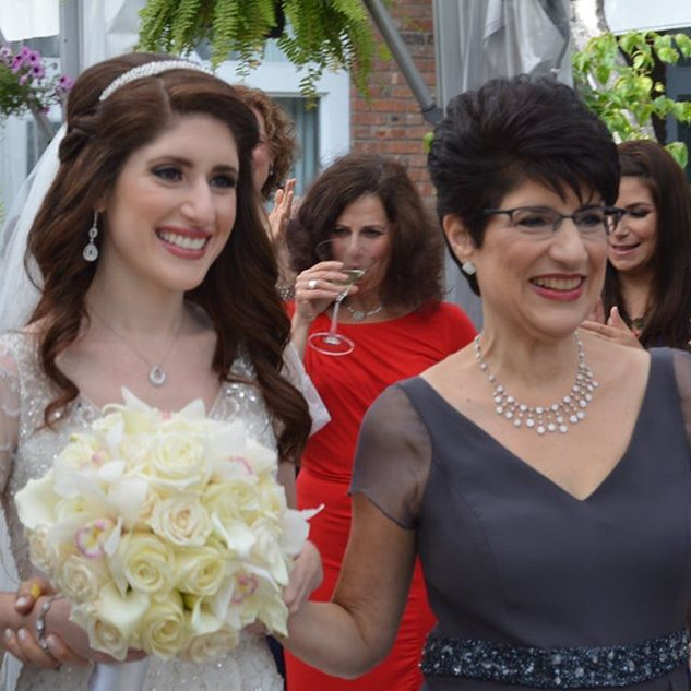 My beautiful bride and mother of the bri