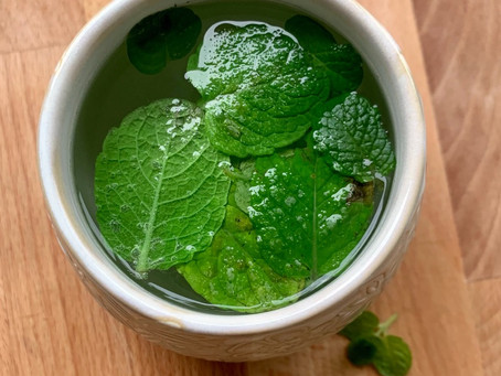 Fresh mint tea.