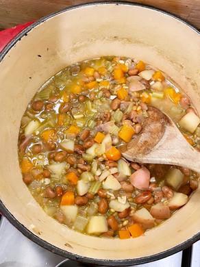 Freekah & Borlotti Bean Soup.