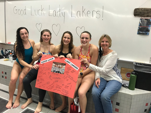 Laker Swim Team Finishes 6th in the State, Highest ever by SLHS Girls Swim and Dive Team