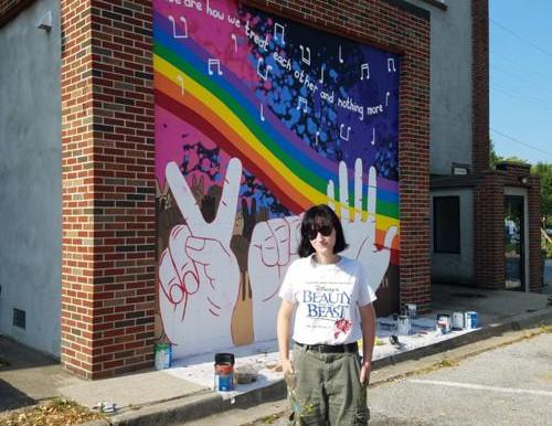 Olivia Butler's Seven Steps Up Mural