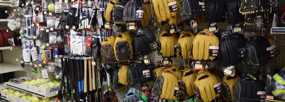Softball Gloves & Bats