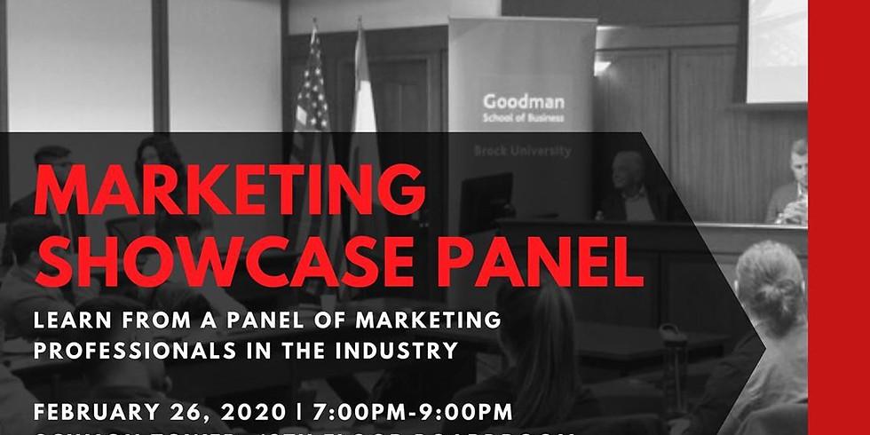 Marketing Showcase panel