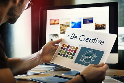 Be Creative Inspiration Design Logo Conc