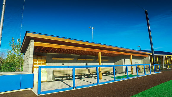 Colby College Baseball Dugouts