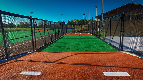 Colby College Baseball Throwing Cages