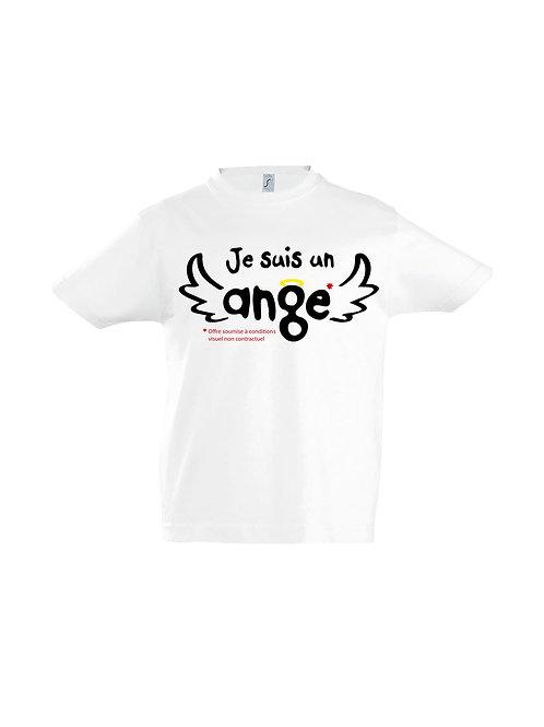 """Tee-Shirt """"Je suis un ange"""""""