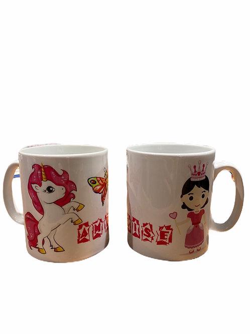 """Mug """"Princesse - Licorne"""""""