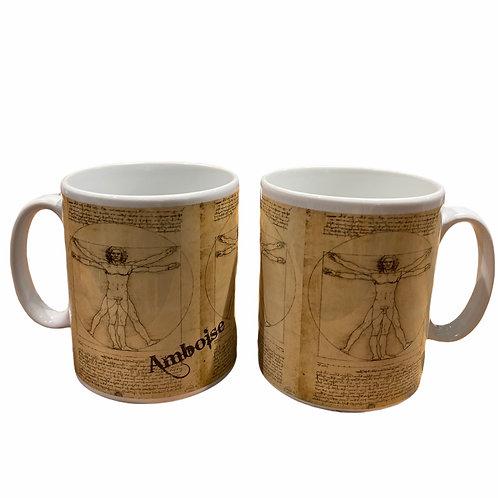 "Mug 'Homme de Vitruve"""