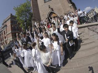 Barnas første hellige kommunion i St. Olav menighet