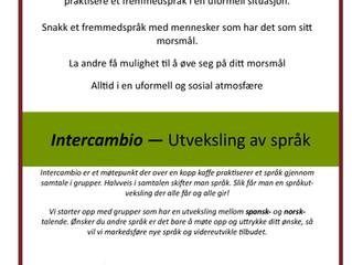 Intercambio - utveksling av språk gjennom samtale -