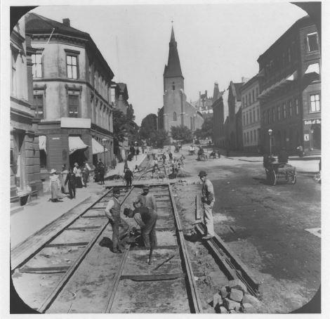 Historisk bilde av Akersgaten