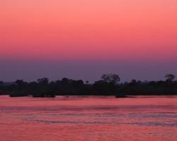sunset on the zambesi