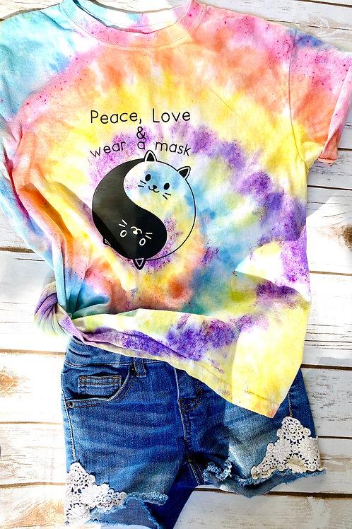 Peace, Love & Wear a Mask T-shirt