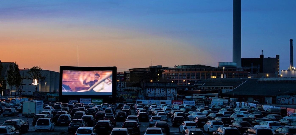 Outdoor 40' blowup screen.