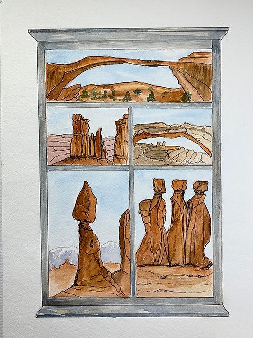 """""""Outside My Window"""" by Janet Buckingham"""