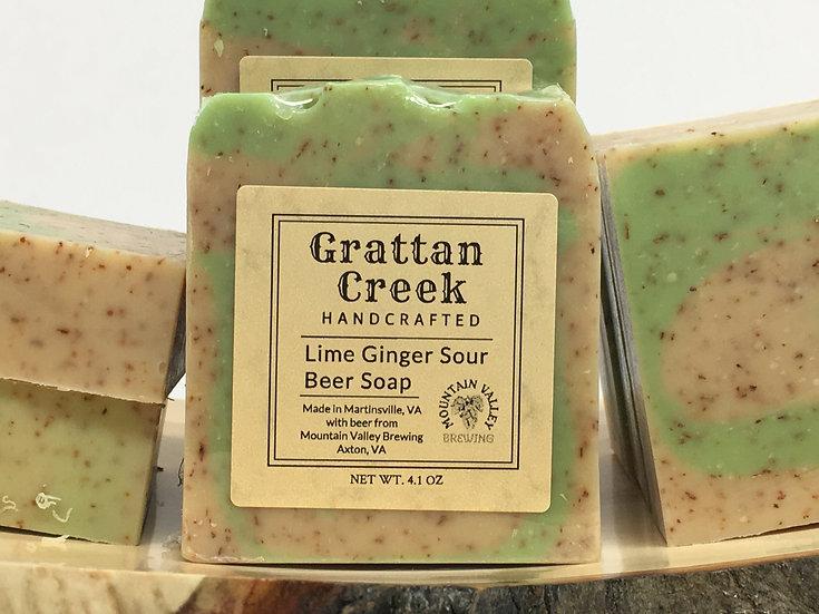 Lime Ginger Sour Beer Soap