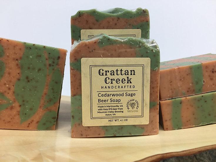Cedarwood & Sage Beer Soap
