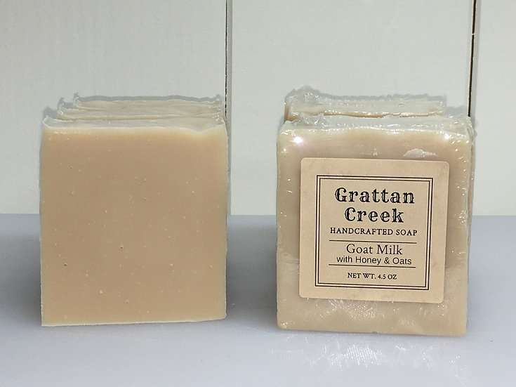 Goat Milk, Honey & Oatmeal Soap