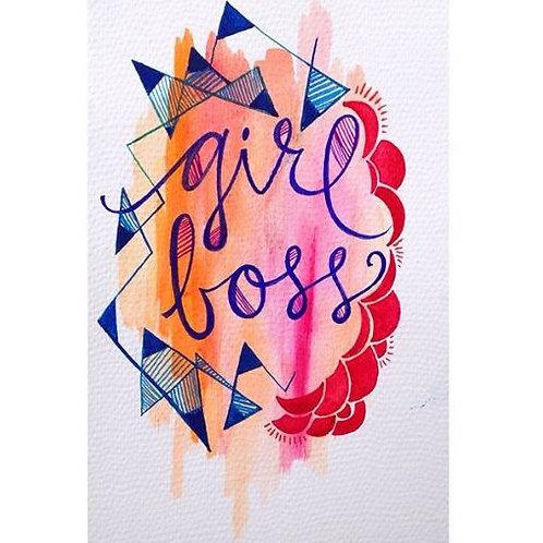Girl Boss Fine Art Print