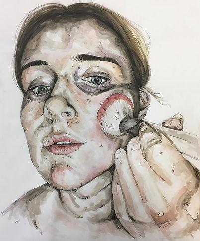Portrait Art Artist Makeup Sky Portrait Artist of the Year Face Application Art Jantina Pepperkamp Inspired