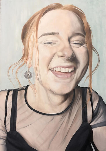 Portrait Oil Painting Sky Portrait Artist of the Year Laughing Happy Smiling Art