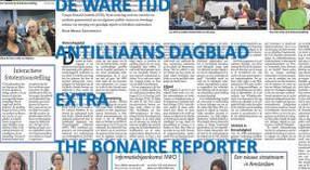 De pers in Suriname, Bonaire en Curaçao over de projecten, sept/okt 2019
