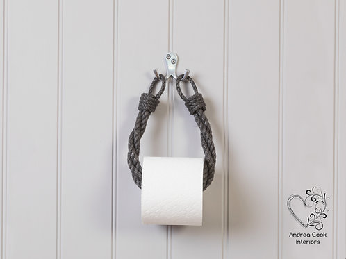 Charcoal Grey Twisted Toilet Roll Holder - Toilet Paper Holder