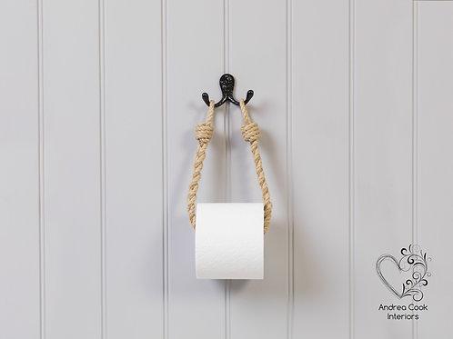 Slim Braided Beige Rope Toilet Roll Holder - Toilet Paper Holder