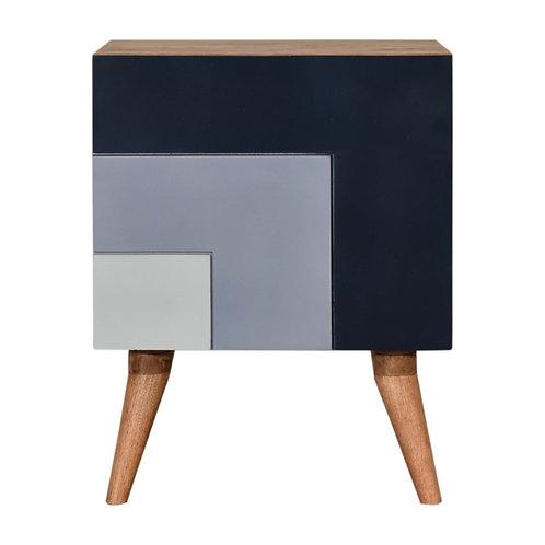 Quebec Blue Bedside Table