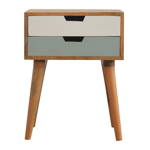 Grey and White Bedside Table