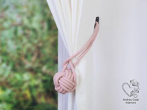 Large Cherry Blossom Pink Monkey Fist Tie Back, Hold Back, Holdback, Tieback