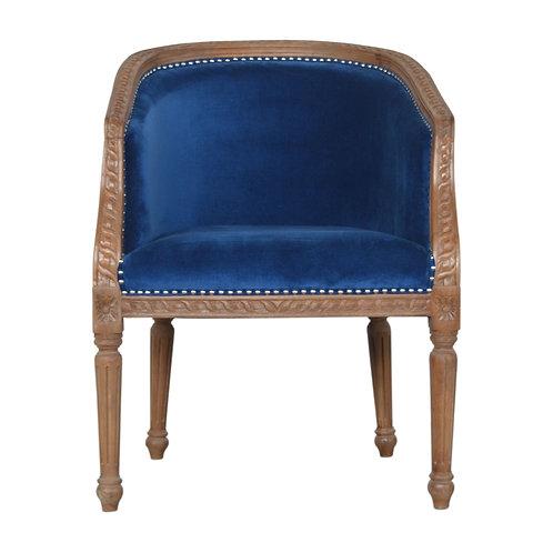 Royal Blue Velvet Occasional Chair