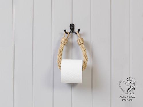 Beige Twisted Rope Toilet Roll Holder - Toilet Paper Holder