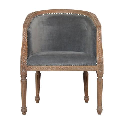 Grey Velvet Occasional Chair