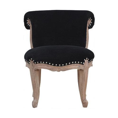 Black Velvet Studded Chair