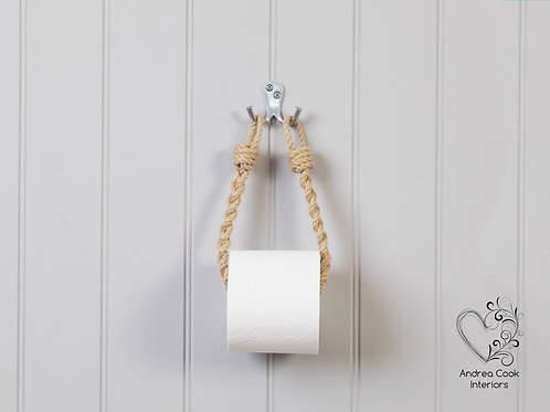 Slim Braided Beige Rope Toilet Roll Holder - Toilet Paper Holder