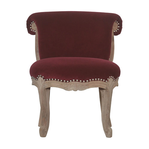 Wine Red Studded Chair