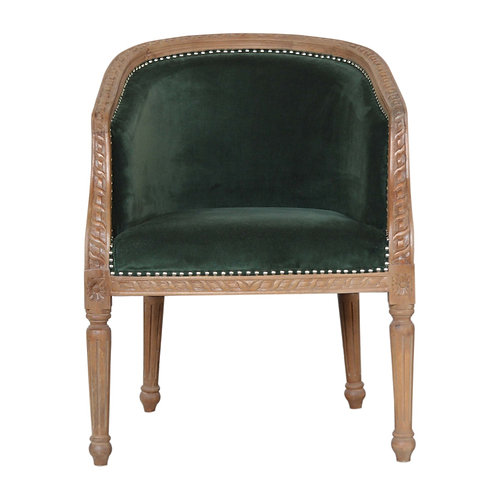 Emerald Green Velvet Occasional Chair