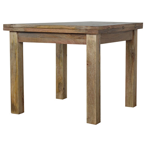 Solid Mango Wood Extendable Butterfly Dining Table
