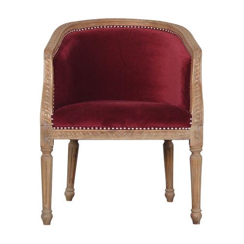 Wine Red Velvet Occasional Chair